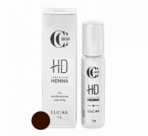 Хна для бровей Premium henna HD, CC Brow, Classic brown (классический коричневый), 5 г | LUCAS' COSMETICS (Лукас косметикс)