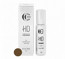 Хна для бровей Premium henna HD, CC Brow, Olive brown (оливково-коричневый), 5 г | LUCAS' COSMETICS (Лукас косметикс)