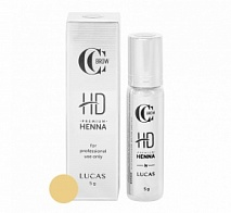 Хна для бровей Premium henna HD, CC Brow, Golden wheat (пшеничный), 5 г | LUCAS' COSMETICS (Лукас косметикс)