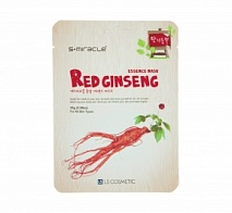 Маска для лица с экстрактом женьшеня (S+miracle Red Ginseng Essence Mask) | LS COSMETIC